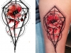 Graphic novel style tattoo