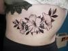 shaded flower tattoo