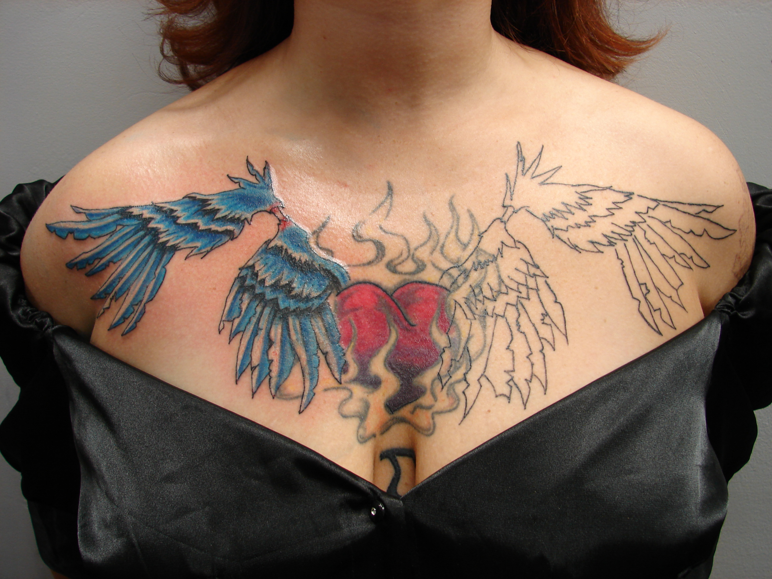 chest piece cover up repair