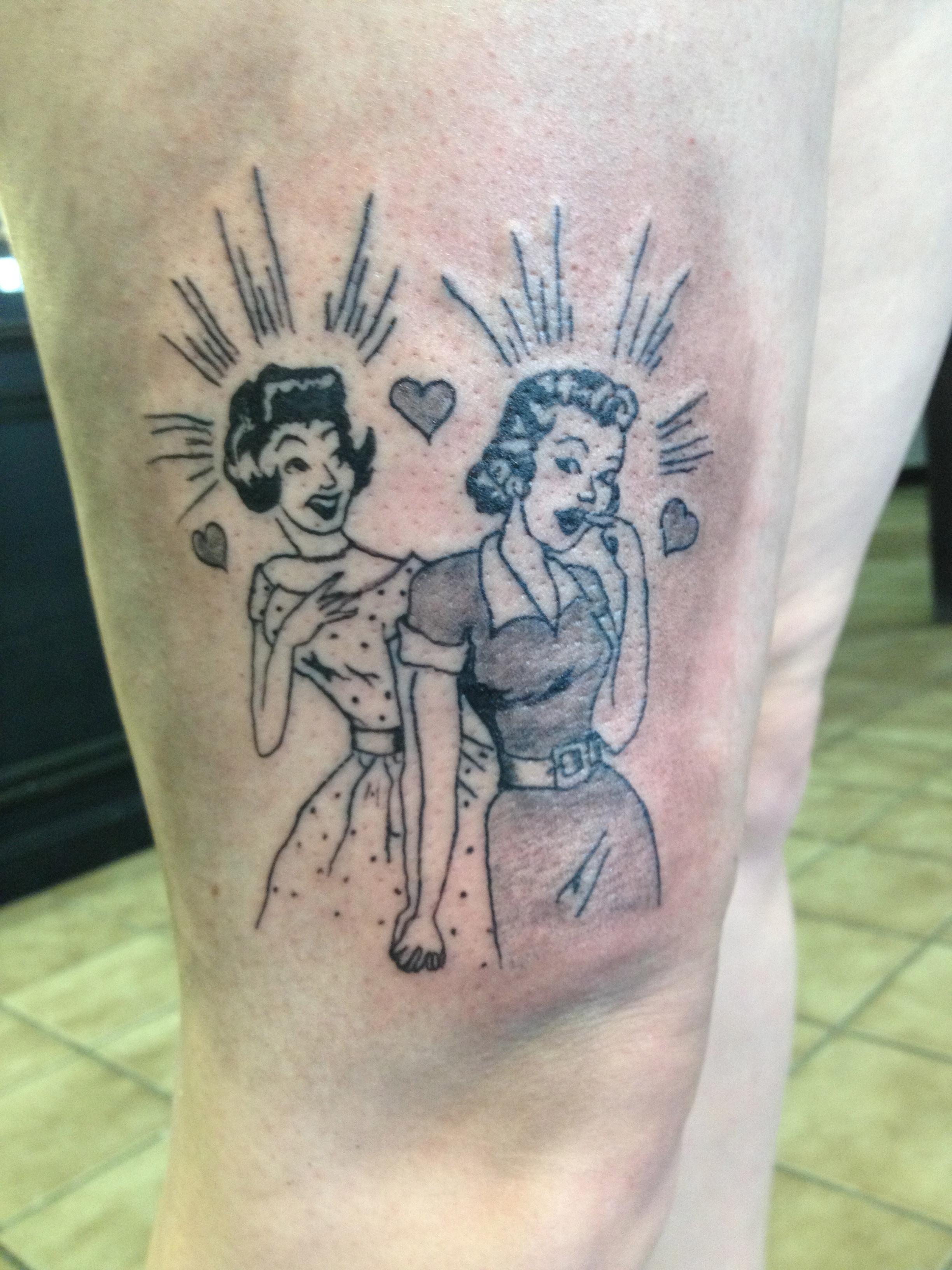 50s cartoon tattoo