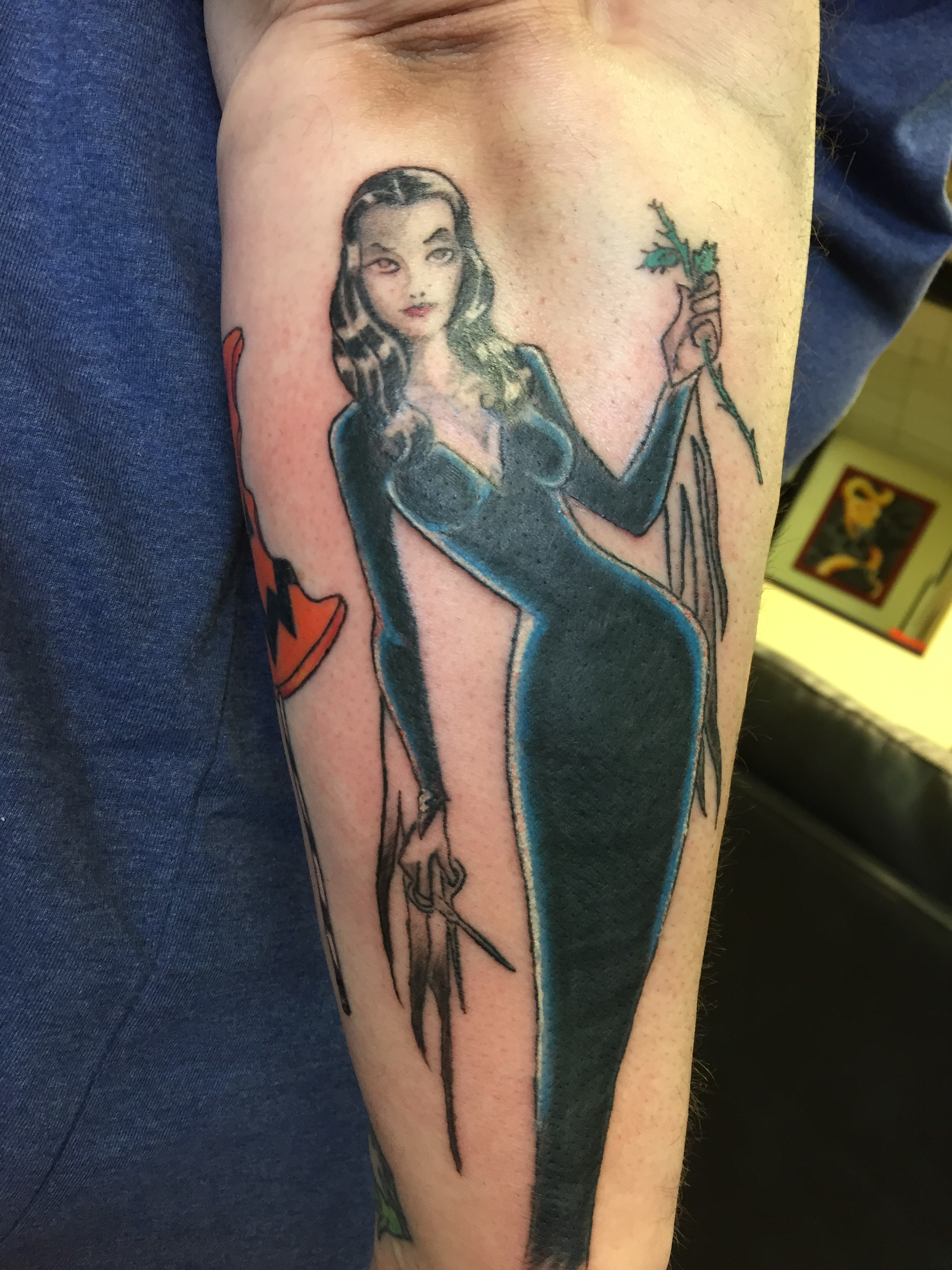 Morticia Adams Pin up