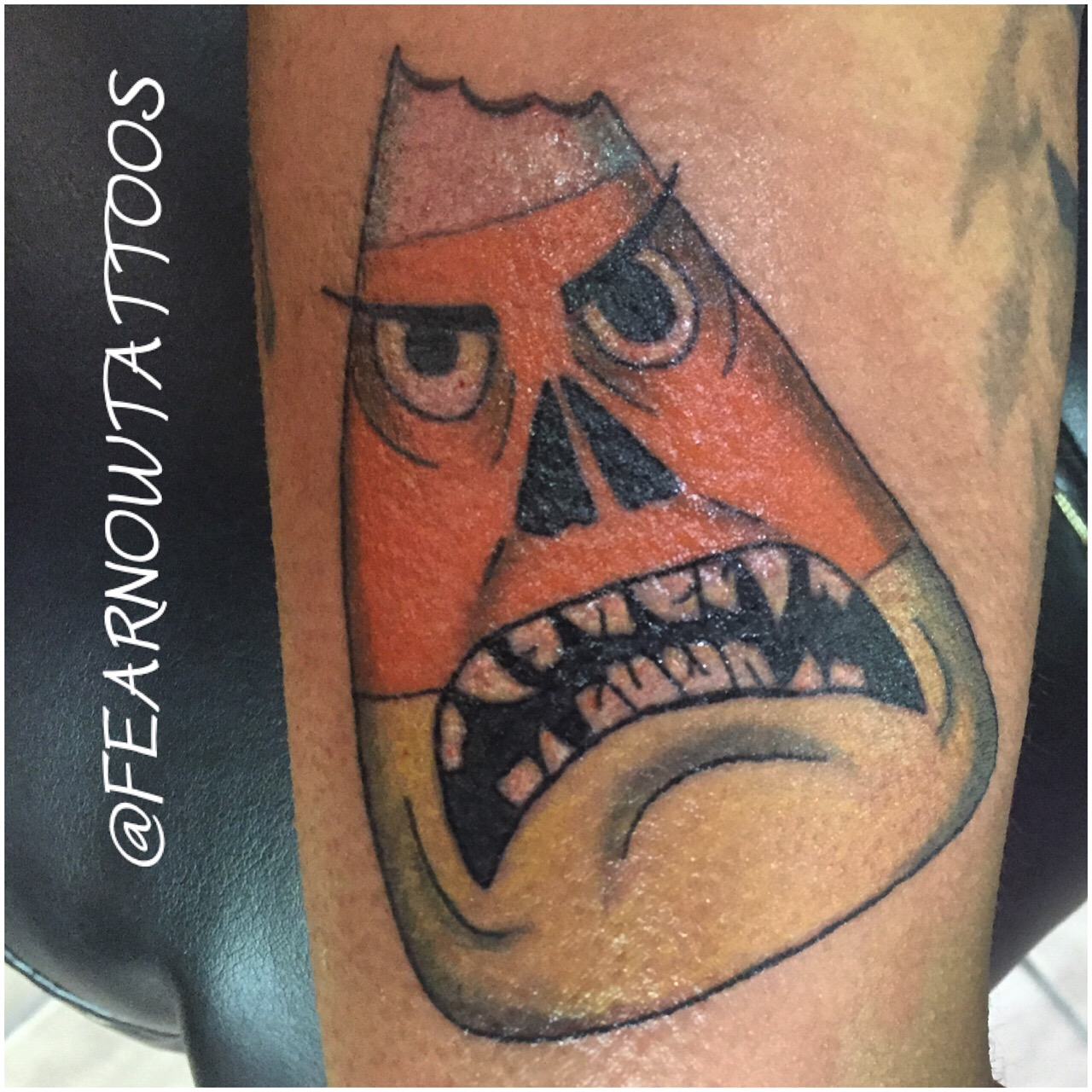 candy corn tattoo
