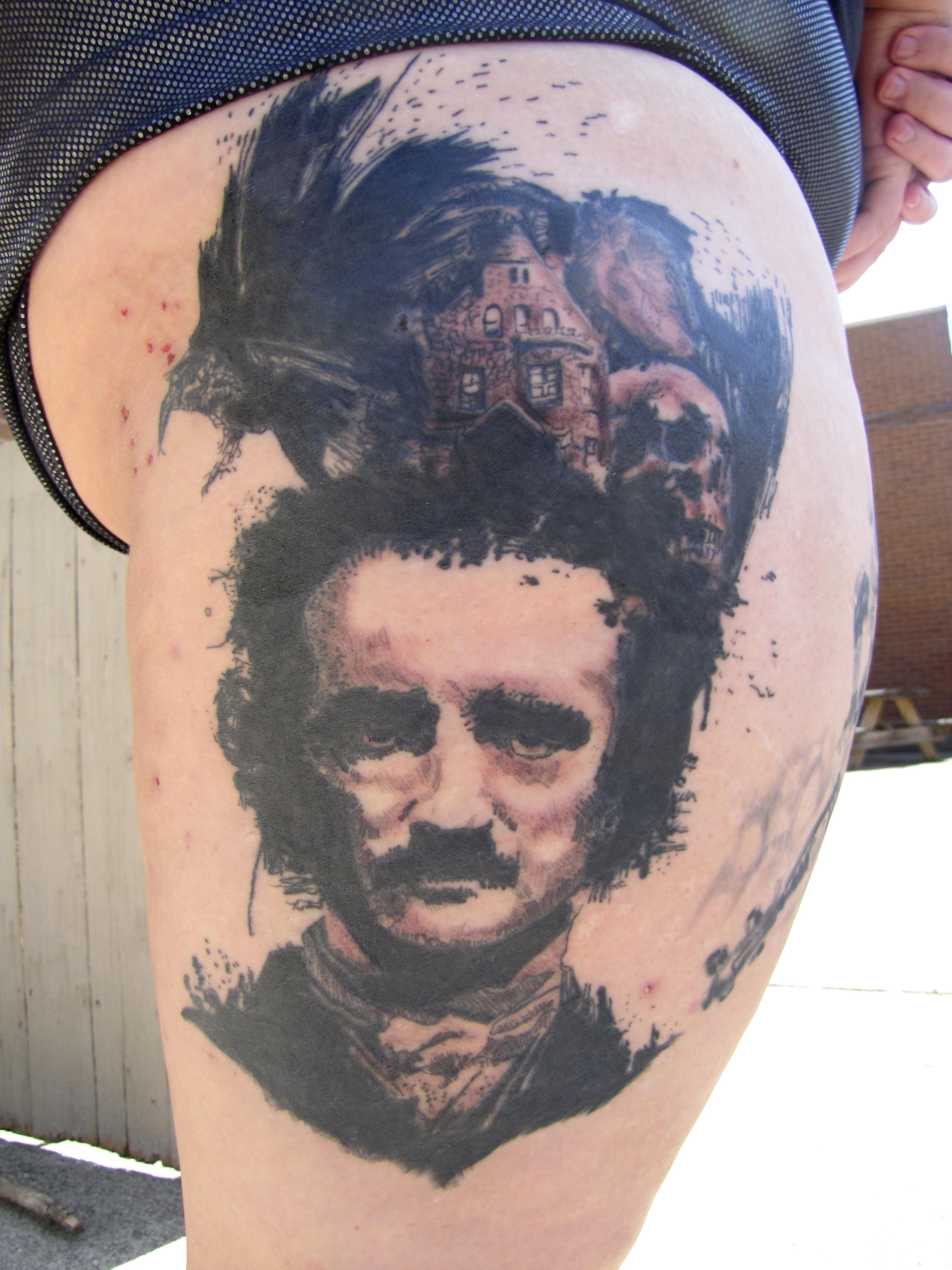 Edgar Allen Poe portrait the raven