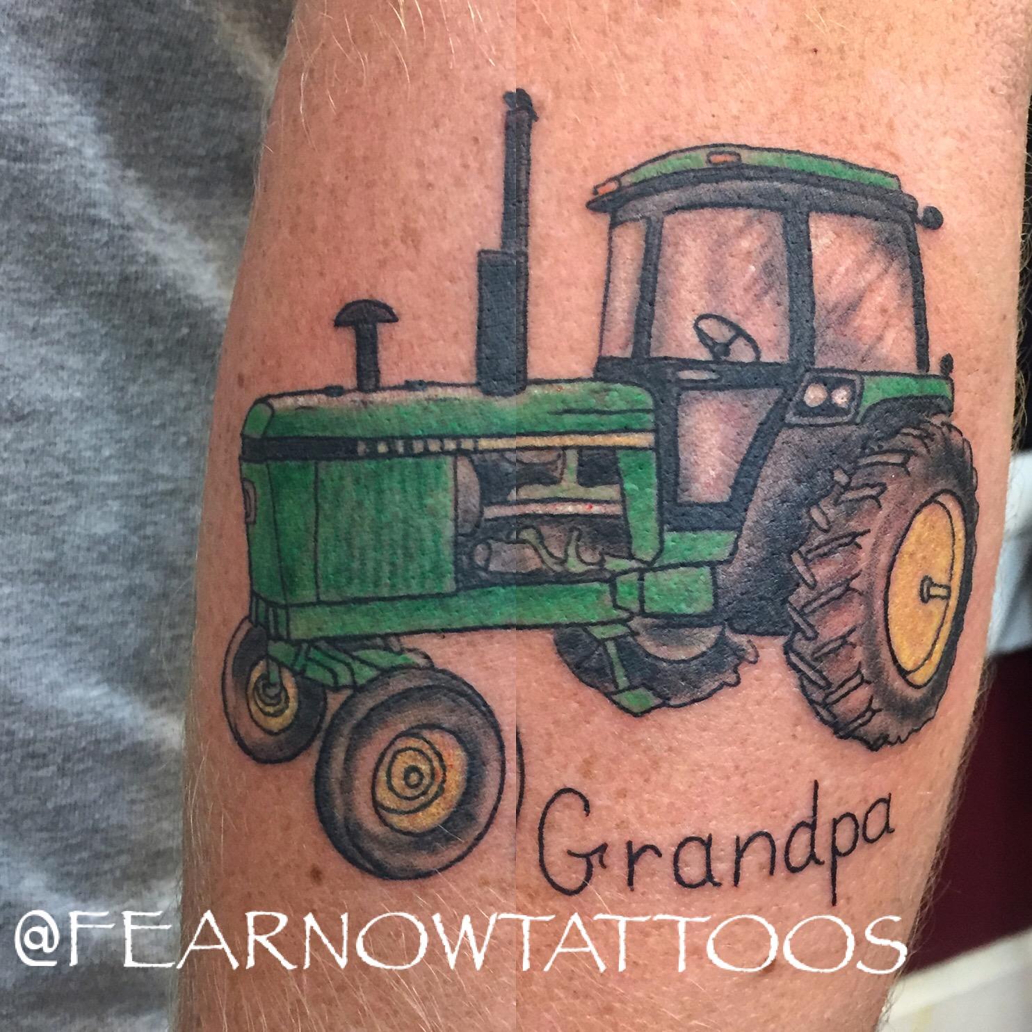 tractor honoring grandpa