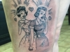 50s cartoon tattoo