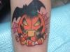 jack o lantern and bat