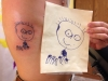 child's drawing of dad tattoo