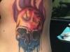 Rainbow melting skull