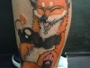 frisky fox tattoo