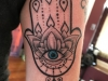mandala hand and eye started