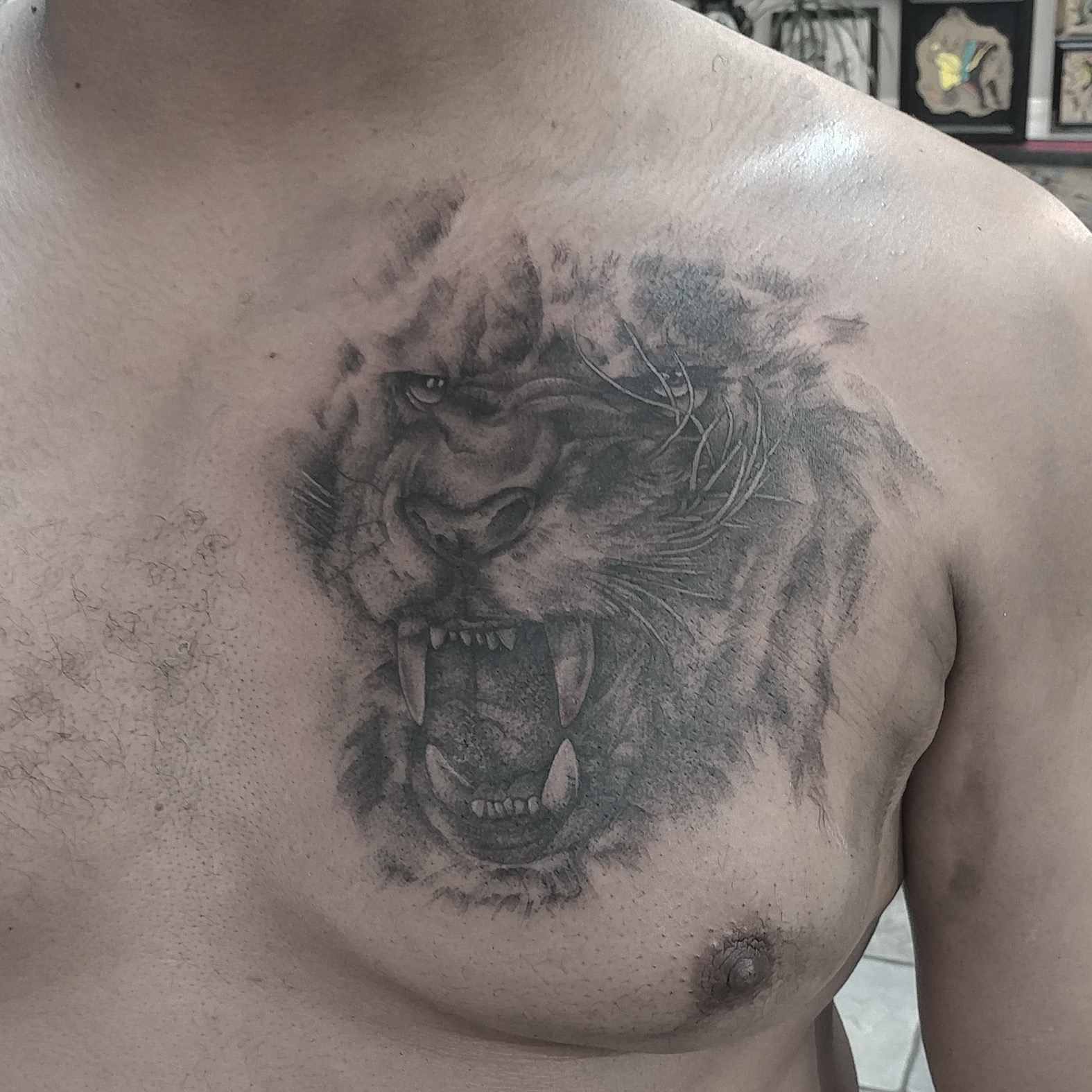 Concealed Lion Tattoo