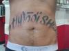 Rib Lettering Tattoo