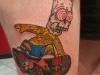 Zombi Bart Simpson Tattoo