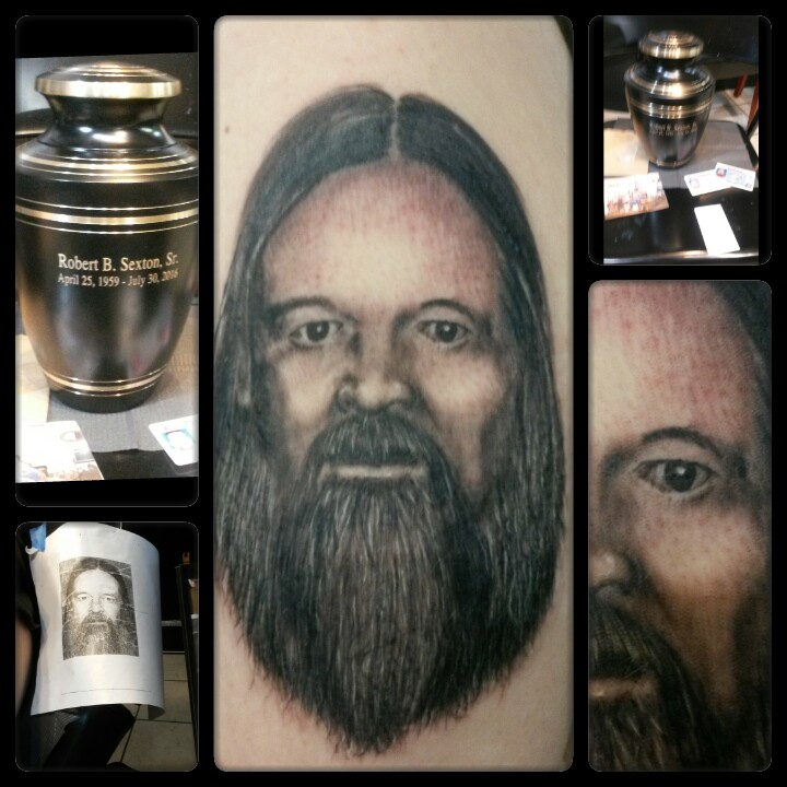 memorial portait tattoo