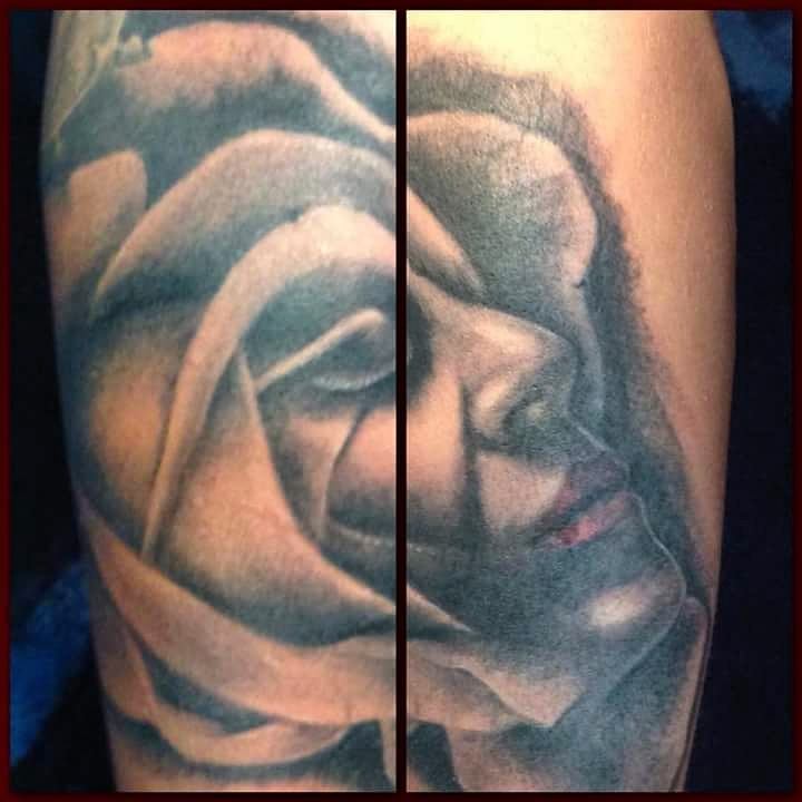 artistic portrait tattoo