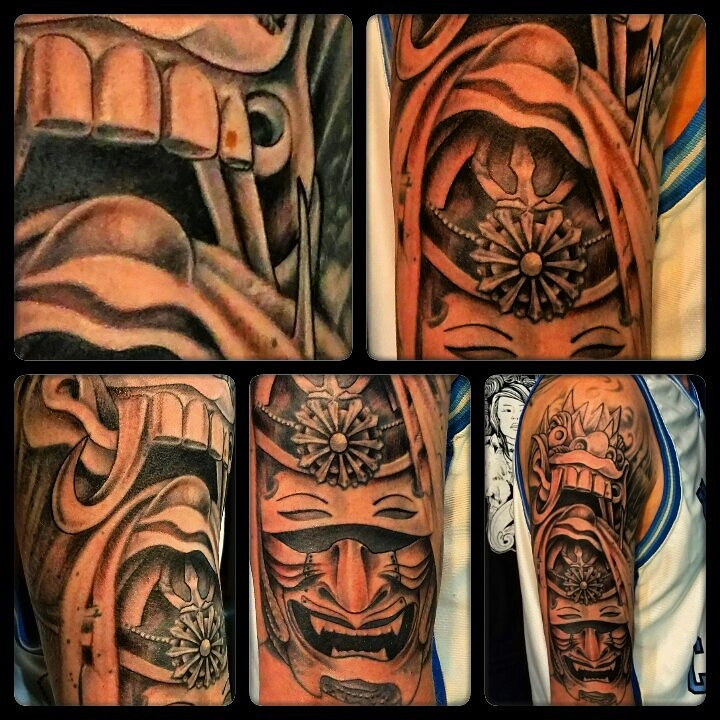 chinese masks tattoo