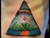 color pyramid tattoo