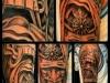 chinese masks tattoo