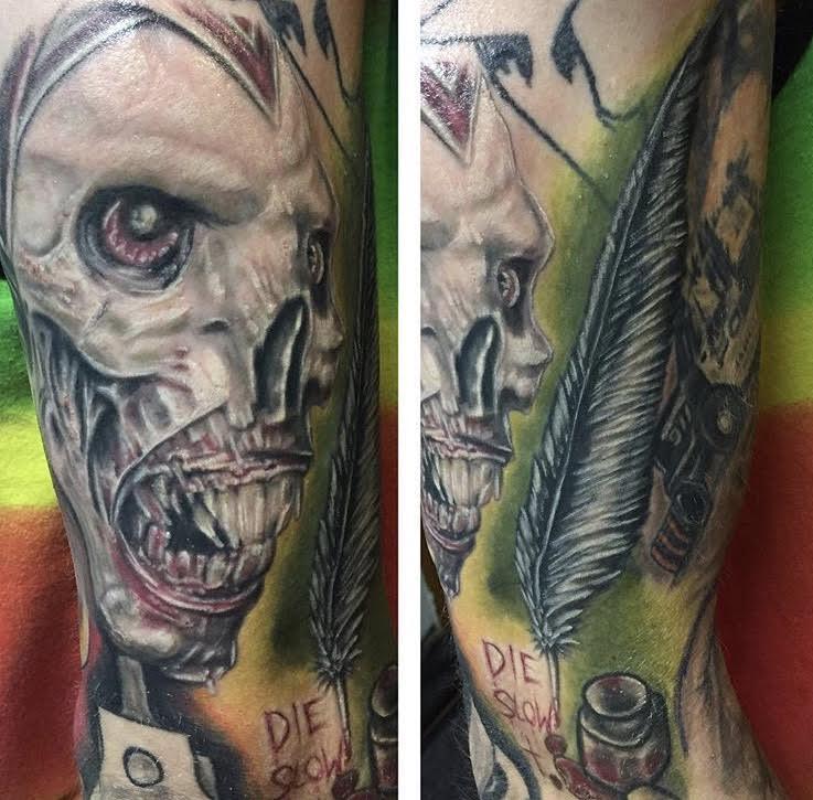 Monster forearm tattoo