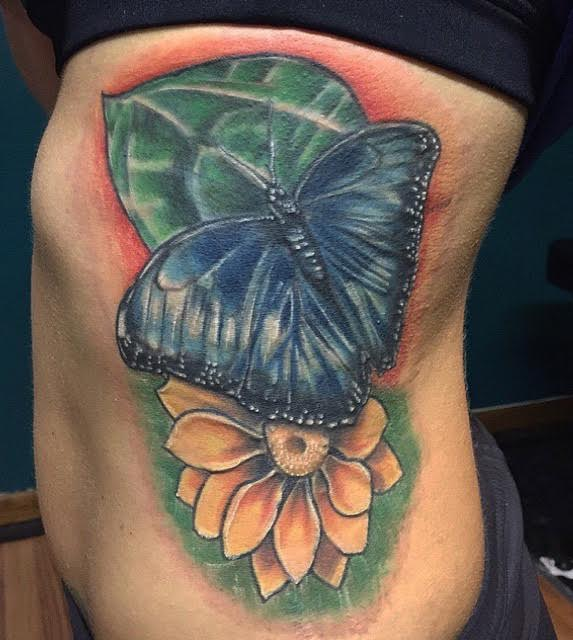 Realistic nature style tattoo