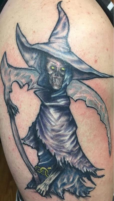 evil witch tattoo