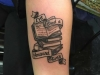Black Outline tatto of books