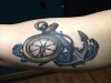 Clock and achor tattoo