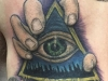 Holding the eye of the pyramid tattoo