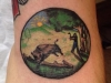 Hunting buffalo sheild tattoo