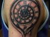 Melting clock tattoo indy