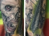 Monster forearm tattoo