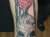Skull Hourglass Tattoo