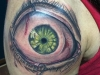 deathly Eyeball upper shoulder  tattoo