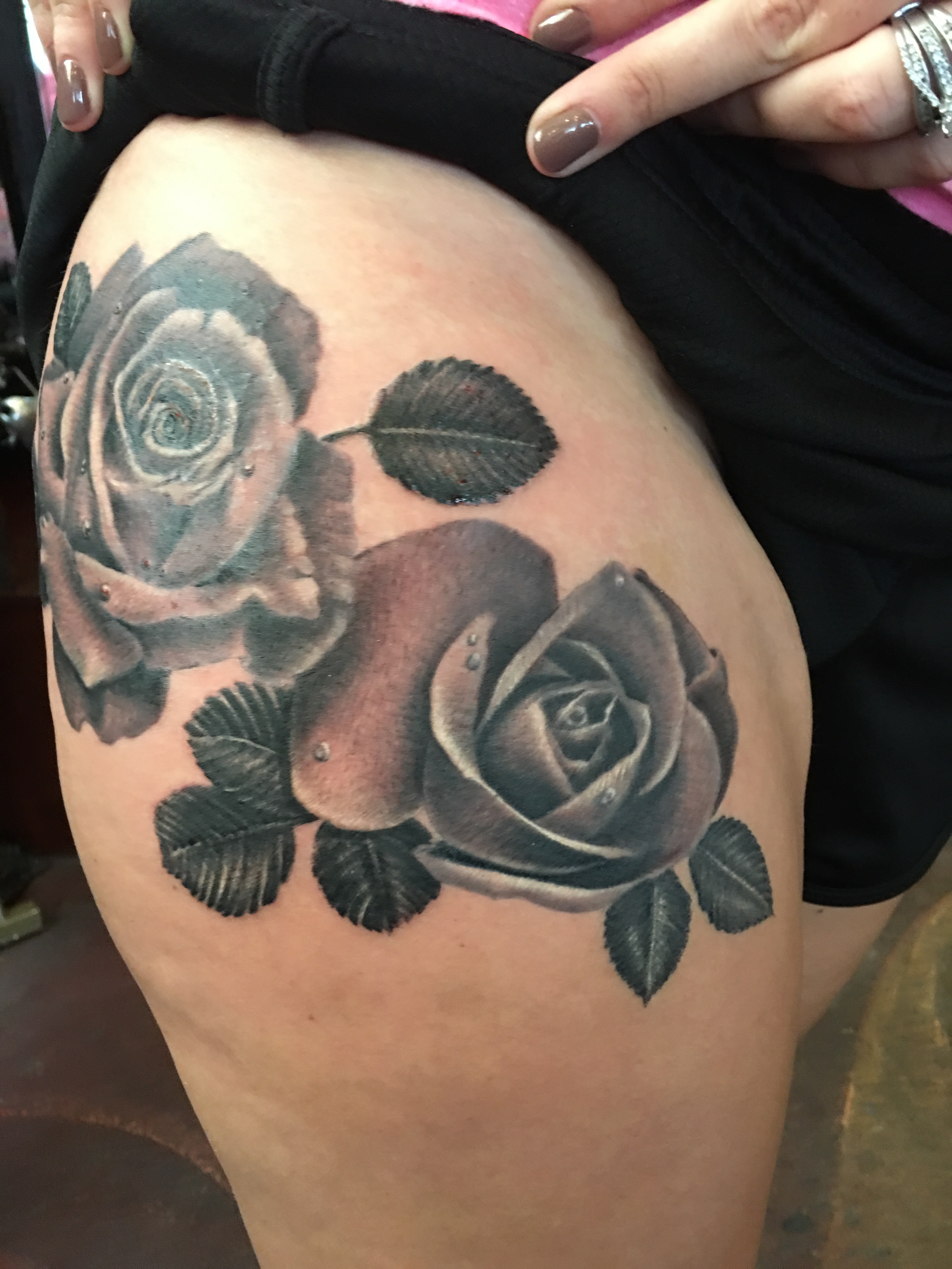 black and gray roses