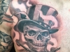 smoking skull in a top hat